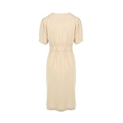 pin-tuck detail front button dress